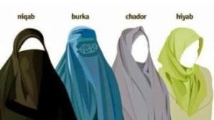 diversi tipi di velo islamico