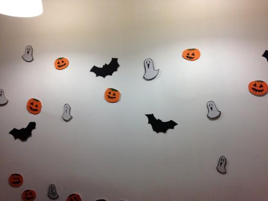 ecco la parete di halloween
