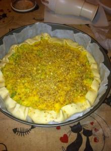 torta salata broccoli e noci